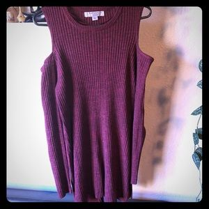 Women's cut out shoulder sweater